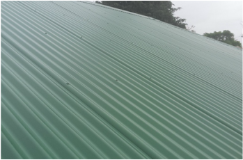 Newly Coated Metal Roof