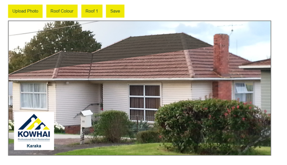 Kowhai Roofs Colour Visualizer
